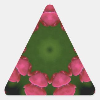 Flower Design by Carole Tomlinson Triangle Sticker
