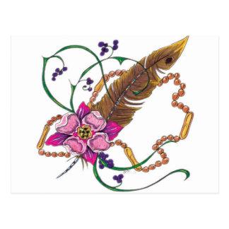 flower design by poppa doc postcard