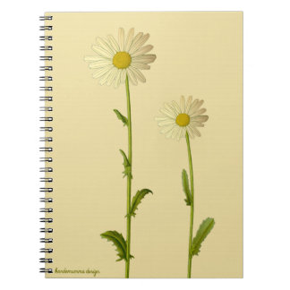 Flower design - Daisy on beige background Notebook