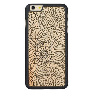 Flower Design Doodle Carved Maple iPhone 6 Plus Case