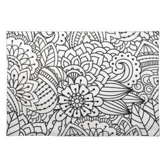 Flower Design Doodle Placemat
