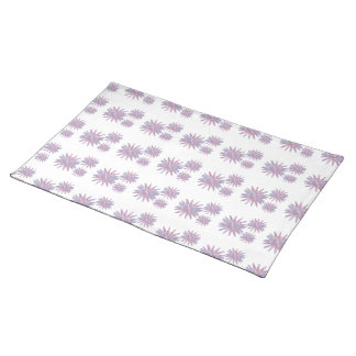 Flower design in light blue and pinks in a pattern placemat