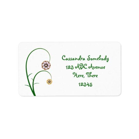Flower Design Label
