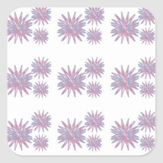 Flower design light blue and pinks pattern sticker