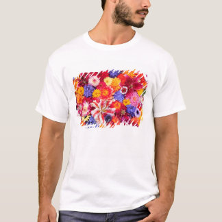 Flower design of Dalhia, Oriental Lilies, T-Shirt