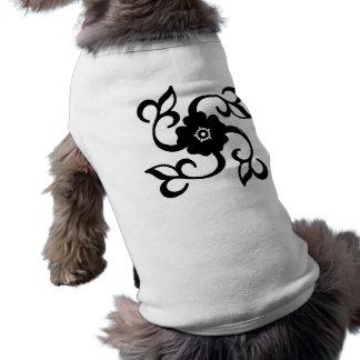 Flower Design Sleeveless Dog Shirt