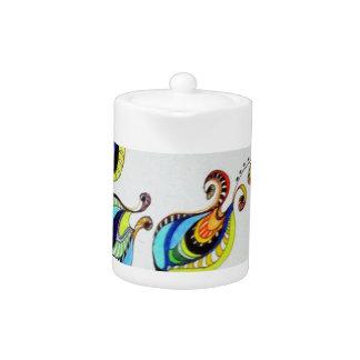 flower design teapot