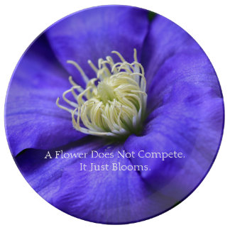 Flower Does Not Compete Quote Wildflower Custom Porcelain Plates