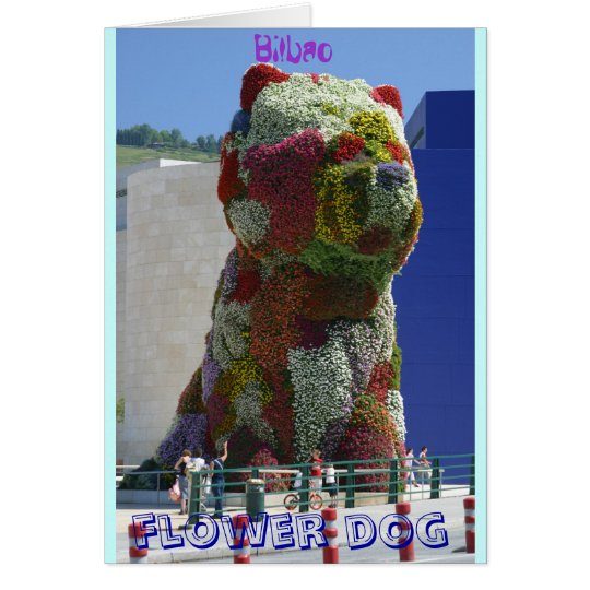 Flower dog card