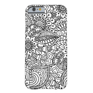 Flower Doodle Barely There iPhone 6 Case