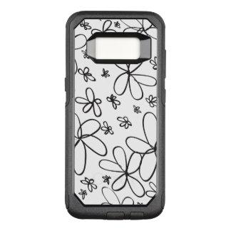 Flower Doodle Black OtterBox Commuter Samsung Galaxy S8 Case