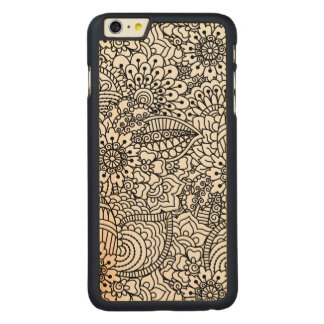 Flower Doodle Carved® Maple iPhone 6 Plus Case