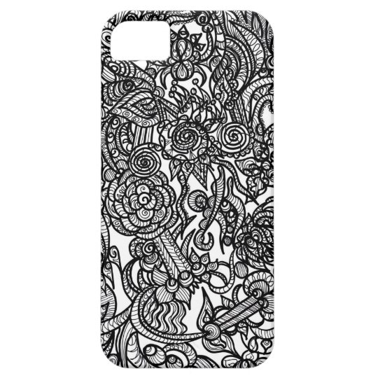Flower Doodle iPhone 5 Cases
