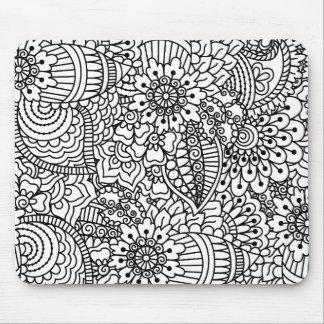 Flower Doodle Mouse Mat