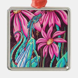 'Flower Dragon' Christmas Ornament