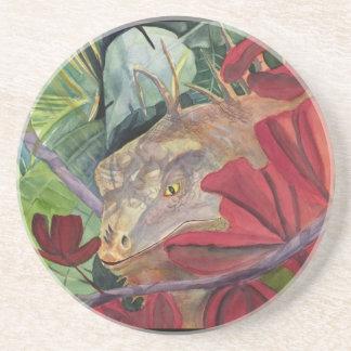 Flower Dragon Iguana Coaster