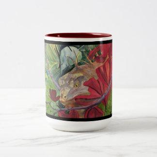 Flower Dragon Iguana Mug