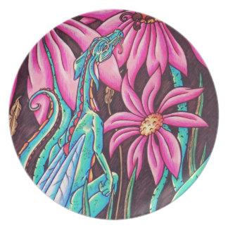 'Flower Dragon' Plate