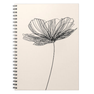 Flower drawing notebooks