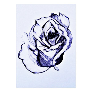 Flower drawing pack of chubby business cards