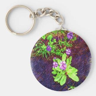 Flower Drawing photo Key Chain