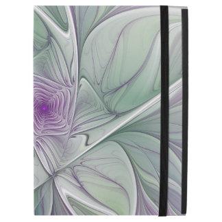 "Flower Dream, Abstract Purple Green Fractal Art iPad Pro 12.9"" Case"