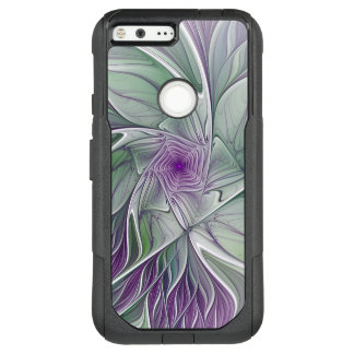 Flower Dream, Abstract Purple Green Fractal Art OtterBox Commuter Google Pixel XL Case