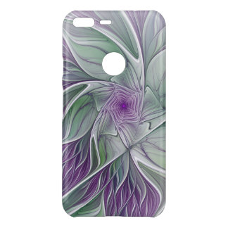 Flower Dream, Abstract Purple Green Fractal Art Uncommon Google Pixel XL Case