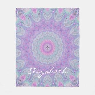 Flower Dream Pastel Mandala by JoMazArt Fleece Blanket