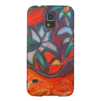 Flower Dreaming Kitty Cases For Galaxy S5