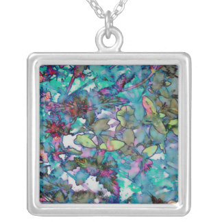 Flower Drop II Silver Plated Necklace