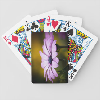 Flower drop of rain playing cards