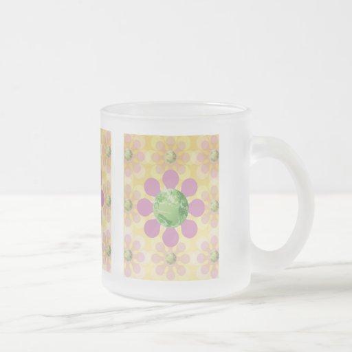 Flower Earth - Retro Earth Day Coffee Mug