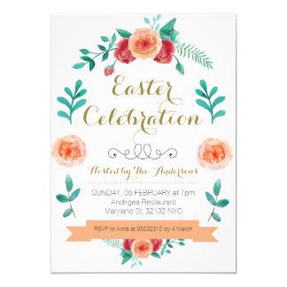 Flower Easter Celebration Invitation