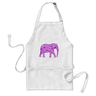 Flower elephant - amethyst purple aprons