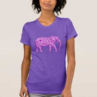 Flower elephant - amethyst purple T-Shirt
