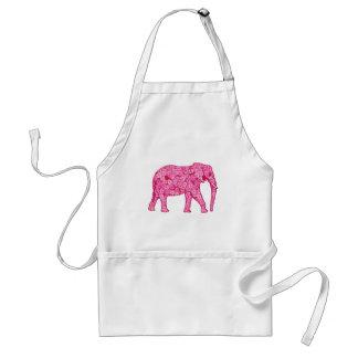 Flower elephant - fuchsia pink standard apron