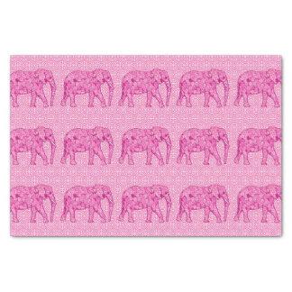 Flower elephant - fuchsia pink tissue paper