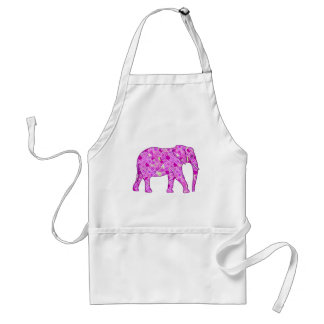 Flower elephant - orchid and magenta standard apron