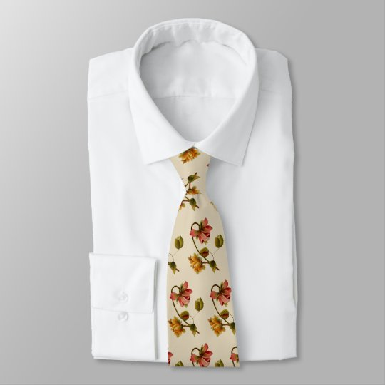 Flower Embroidery Tie