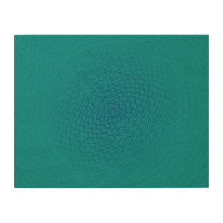 Flower Energy Pattern Blues Wood Canvases
