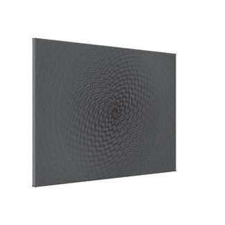 Flower Energy Pattern dark Canvas Print