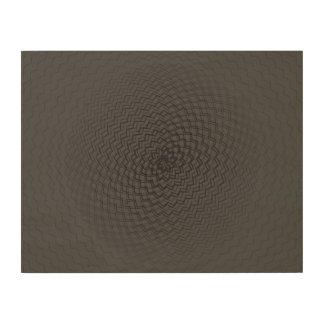 Flower Energy Pattern dark Wood Print