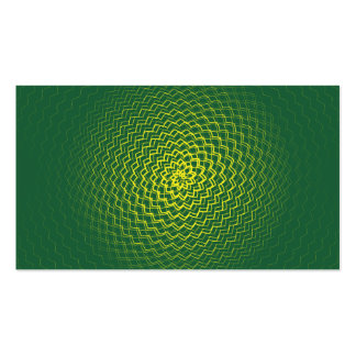 Flower Energy Pattern Green Yellow Business Cards