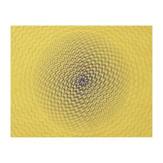 Flower Energy Pattern yellow purple Wood Prints
