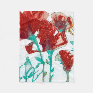 Flower Expression II Fleece Blanket