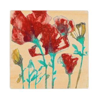Flower Expression II Wood Coaster