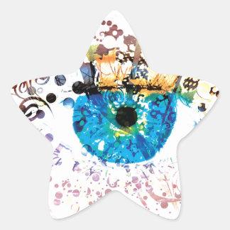 Flower Eye Star Sticker
