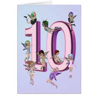 Flower fairies 10th birthday card