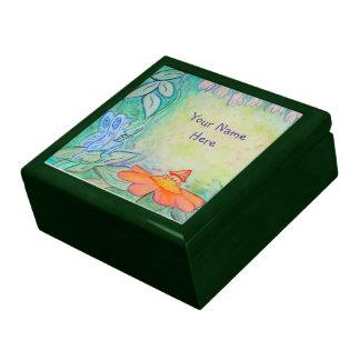 Flower Fairies Garden Art Custom Jewellery Box Large Square Gift Box